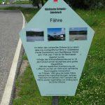 Tafel zur Geschichte der Fähre