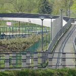 neue Brücke über den Jakobsgraben