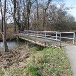 Radwegbrücke über die Buckau