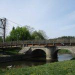 Radwegbrücke über die Spree am Stausee