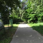 Radweg am ehemaligen Freibad Oberspree