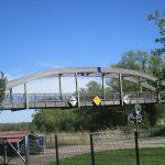 Radwegbrücke an der Schleuse