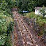 Blick auf die Bahnlinie Liberec-Tanvald